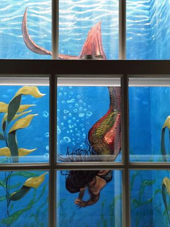 34.Detail of mermaid mural